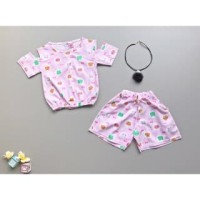 PROMO dari Lovechildren    FRED THE CAT atasan katun jepang set