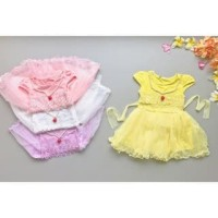 PROMO dari Lovechildren    RED PEARL DRESS baju lace lacey rend