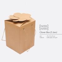 Clover Box Isi 3 toples - Kotak Kue Kering Parcel