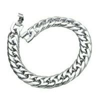 Gelang Pria Wanita Rantai Silver Titanium- stainless steel - Macho