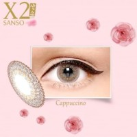 X2 sanso/softlens silicone hydrogel/sanso onyx, cappuccino,pearl