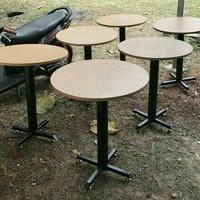 meja bulat diameter 60 meja resto cafe rumah makan modern minimalis