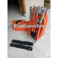 Tandu Lipat 4 Aluminium Folding Stretcher Darurat P3K UKS + Tas GEA