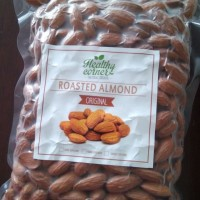 Roasted Natural Whole Raw Almond ( Kacang Almond Panggang ) 1000 gr