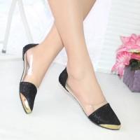 Sepatu Murah NAFIZA  Flatshoes Glitter Hitam