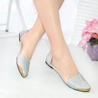 Sepatu Murah NAFIZA  Flatshoes Glitter Silver