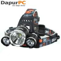 Headlamp 3 Cree XM L T6 High Power 5000 Lumens