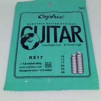 senar gitar elektrik 010 orfhee rx 17