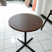 Meja Bulat Diameter 60cm Meja Cafe Meja Restauran