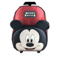 Tas Troley Sekolah Anak TK Mickey Mouse Muka Kuping 3D TImbul