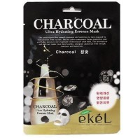 EKEL Hydrating Essence Korean Masksheet CHARCOAL / Masker Korea Asli