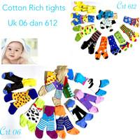 Legging anak bayi celana panjang tutup kaki cotton rich motif import