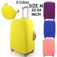 Cover Trolley Bag/Luggage/Koper Kain Polos Elastis Size M (22-24 inch)