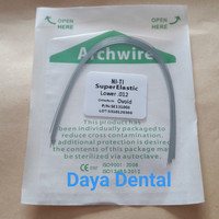 Dental kawat niti/kawat behel gigi/kawat bracket gigi pack 012 lower