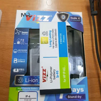 BATRE BATERAI BATTERY DOUBLE POWER VIZZ IPHONE 6 IPHONE 6G