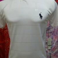 Kaos Bodyfit V Neck Polos Pria Hitam Putih