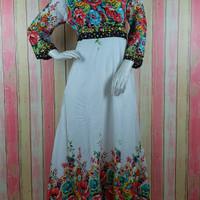 Maxi Dress Kimono Flower