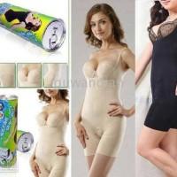 [ PROMO ] Bambo Kaleng Slimming Suit S-M Beige / Cream