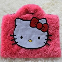"Hello Kitty Bulu Rasfur 10&11""-12 Inch Softcase Tas Laptop Netbook"