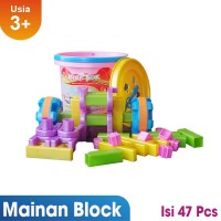 Ocean Toy Block Creative Ember isi 47 Mainan Edukasi Anak -OCT9602