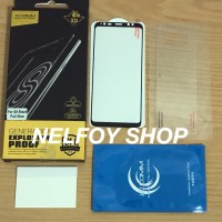 S8 Tempered Full Glue Glass Plus Kaca 8 Anti Gores Mika Glare S9 Note