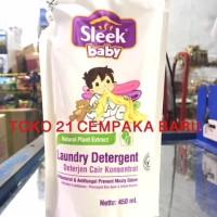 Sleek Baby Laundry Detergent Refill 450ml | Deterjen Cair Bayi 450 ml