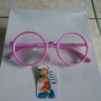 Promo kacamata anak fashion bulat pink trendy YT436