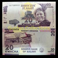 20 Kwacha Malawi Koleksi Uang Kuno Luar Negri UNC