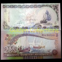 5 Rufiya Maldives Koleksi Uang Kuno Luar Negri UNC