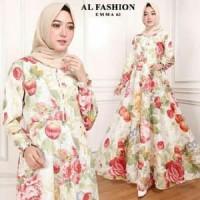 38 Maxi Emma (63) Gamis wanita/baju muslim - merah muda