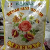 BERAS KEPALA SLYP SUPER CAP BUNGA RAMOS SETRA 5 KG