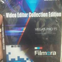 Software editig video sony vegas, filmora, hitfilm dll 1dvd