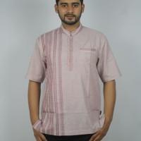 Busana muslim pria/ Baju koko casual lengan pendek/ fashionable