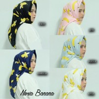 Neria Banana - Jilbab Segi Empat Motif Pisang BERKUALITAS
