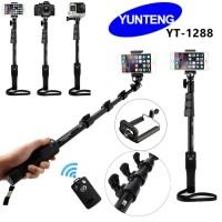 Tongsis Bluetooth Yunteng YT 1288 Panjang 125cm Holder U Tongsis Yunte