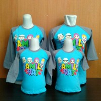 Kaos Couple Keluarga (UK DEWASA) Kiddos Family Biru
