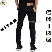 Celana Stretch Chino Warna Cream Hitam Abu Khaki Coklat Size 27 - 34