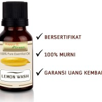 Happy Green Lemon Washed Essential Oil (30 ml) - Minyak Lemon Washed