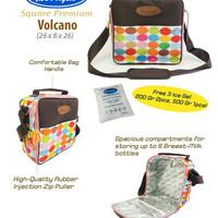 Cooler bag volcano two angel murah tas paket free ice gel