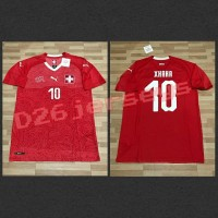Jersey Swiss home Piala Dunia 2018 OFFICIAL + Cetak nama FONT OFFICIAL