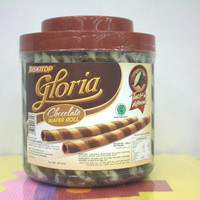 Biskitop gloria wafer roll chocolate 650gr khusus gosend