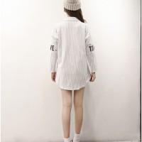 BAJU BLOUSE baju baseball korea wanita kemeja dress oversized big