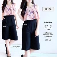 SEJS104 - jumpsuit kulot pendek wanita rose premium best seller murah