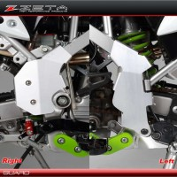 ZETA RACING FRAME GUARD ALUMUNIUM KAWASAKI D-TRACKER / KLX 150