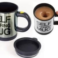 Self Stirring Mug / Mug aduk automatis / Mug Magic Plastik