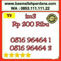 Nomor Cantik im3 10 digit ABAB 6464 0816 9 64 64 1 rapih Y5 945
