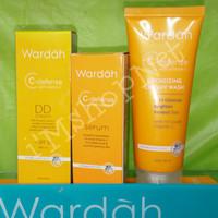 WARDAH PAKET C DEFENSE series(cream wash,DD cream,serum)