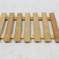 Tatakan Gelas/Piring Mangkok Kayu 17x17 cm