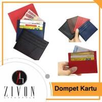 Card Holder Kulit 6 Slot Dompet Kartu Nama Tipis Money Leather ilf