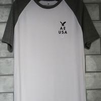 Baju Kaos Oblong Crewneck Pria American Eagle Original #1011 - M